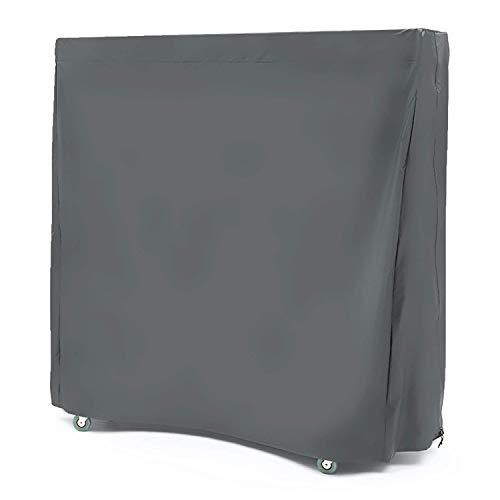 Mr.You Copri Tavolo Ping Pong, Tavolo da Ping Pong Copertura Impermeabile Interno/Esterno Nero (152 × 72 × 152CM)