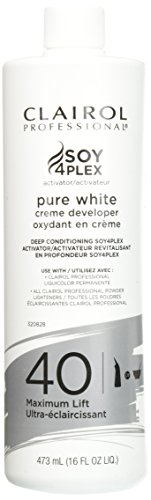 Clairol Professional Soy4plex Pure White Creme Hair Color Developer, 40 Volume
