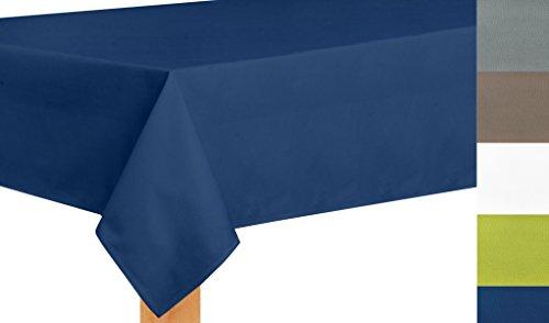 Tischdecke nach Maß, hochqualitative Wertarbeit , Maßanfertigung, Tischdecken, Tischläufer, Pflegeleicht, waschbar, Blau (40x140cm)