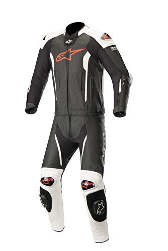 Alpinestars Lederkombi Missile Tech Air Compatible Zweiteiler, Black White Red Fluo, 54