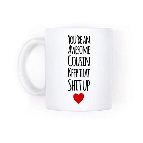 XCNGG Taza de caf de la taza de la taza del cielo estrellado de la pendiente de la taza de cermica - Cuntcake Mug, Funny Wrap Around Cunt Design, Black Accent White Coffee Mug, 11oz Ceramic Cof