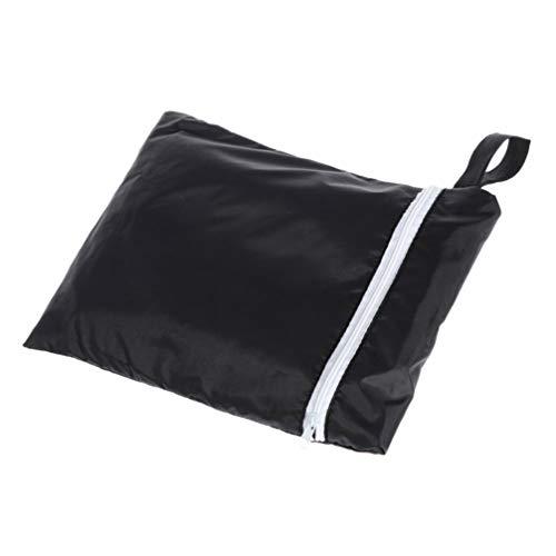 YARNOW Cubierta de Sombrilla Voladiza Cubierta de Sombrilla de Patio Cubierta de Sombrilla Impermeable con Cremallera para Jardín Al Aire Libre (Negro)