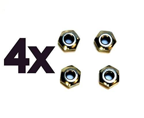 p4U 4 Stück Kugelmutter für AL-KO Alko Knott BPW Schlegl Avonride M8 Bremsseilmutter Bremsseil SW 17 Konus konische Mutter