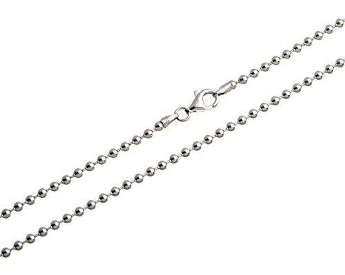 Kugelkette 3mm - 925 Silber Länge 40-100cm