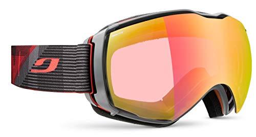 Julbo Aerospace Skibrille mit Reaktiv-Display, Photochromatisch, für Herren, Rot/Grau, XL+