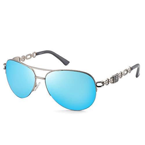 Gafas De Sol Mujer Hombre Clásicas Mujer Hombre Espejado Variación De Color Gafas con Espejo De Metal para Conducir Pesca Viajes Gafas De Sol De Aviador Lentes Ovaladas Gafas Al Aire Libre