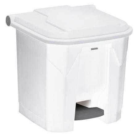Poubelle à pédale Utilo - 30l - blanc/blanc