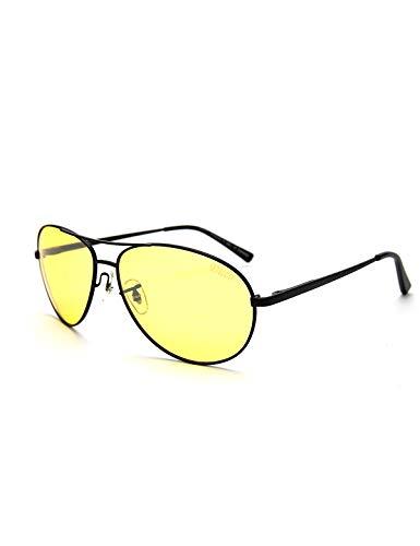 DUCO Nachtsichtbrille Anti-Glanz Fahren Brillen Kontrast-Brille Nachtfahrbrille polarisierte 3025Y (Schwarz)