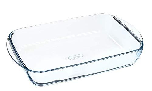 Pyrex - Essentials - Plat à Lasagnes Rectangulaire en Verre 35x23 cm