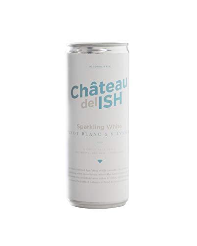 Château del ISH Sparkling White – 24x 250ml - prickelnder Schaumwein mit 0% Alkohol, Premium Sekt alkoholfrei mit Trauben aus Frankreich, Frizzante Perlwein als alkoholfreies Getränk