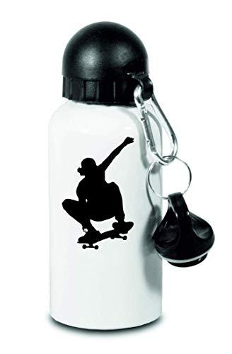 Trinkflasche - Skateboard Trick Spielen Mann - Für Kinder, Schule, Sport, Fitness - Schlanke Wasserflasche aus Aluminium