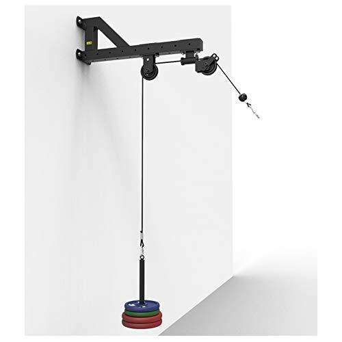 GJXJY Torre de poleas Tirador Lat Soporte de Pared para Entrenamiento de bíceps y dorsales Estación Fitness Accesorios para Cables Cuerda De Tracción Rodillo De Muñeca para Gimnasio