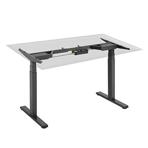 HOKO® Ergo-Work-Table Höhenverstellbarer Schreibtisch, Tischfüße Premium Schwarz, elektrisch. Ergonomisches Arbeiten im Sitzen und im Stehen! Mit digitaler LED Memory Speicher Steuerung.