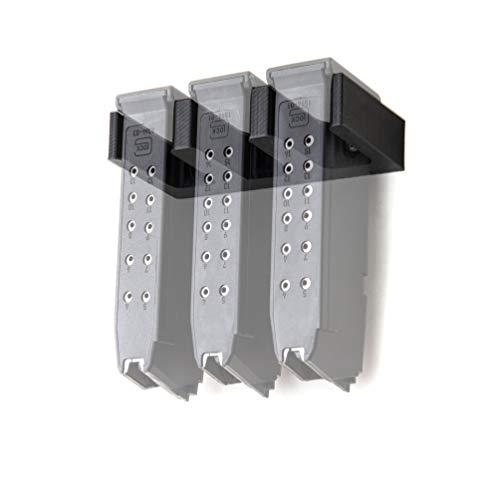 Spartan Mounts for Glock 17 19 26 31 32 33 34 44 Magazine Mount | Pistol Mag Wall Display Storage Organization System | Unique Low Profile Design | Gun Safe Wall Garage | Gun Room Mounting Solution