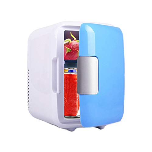 LKOPYUo Mini refrigerador de 4 litros refrigerador portátil de 12V calentador con alimentación de CA/CC bajo nivel de ruido para cosméticos dormitorio cuidado de la piel oficina automóvil comida regal
