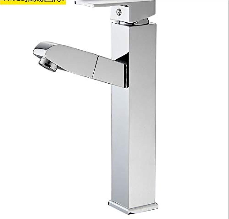 Floungey BadinsGrößetionen Waschtischarmaturen Küchenarmaturen Volle Kupferhhe Ziehen Wasserhahn Becken Wasserhahn über Aufsatzbecken Wasserhahn