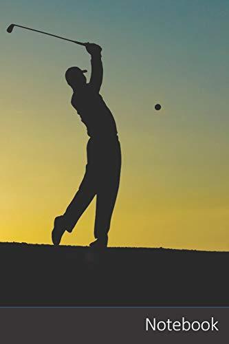 Notebook: Golf, Coucher De Soleil, Sport, Golfeur Carnet / Journal / Livre d'écriture / Calepin / Agenda / Notes - 6 x 9 pouces (15,24 x 22,86 cm), 150 pages, surface brillante.
