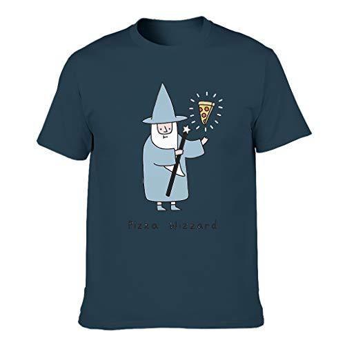 Pizza Wizzard Style - Camiseta de algodón para hombre Negro Negro ( XXL