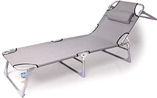 Lhak Sillón reclinable al Aire Libre Silla del Ocio al Aire Libre Cero for sillas de Gravedad Ajustable Plegable Silla de jardín de Ocio for Junto a la Piscina, Patio y Camping