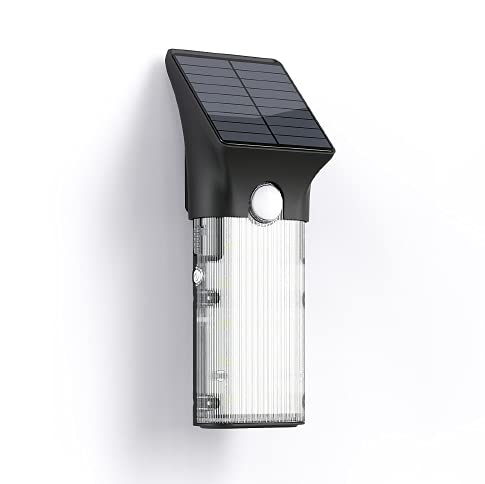KOSSTEC 1000 lúmenes, multifuncional, portátil, lámpara LED solar de pared para exteriores con sensor de movimiento (Home/Villa/pared/jardín/camping/otros)