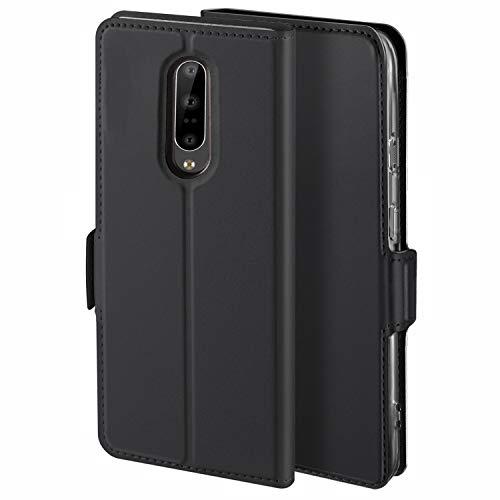 YATWIN Handyhülle für Oneplus 7 Pro Hülle Leder Premium Tasche Hülle für Oneplus 7 Pro, Schutzhüllen aus Klappetui mit Kreditkartenhaltern, Ständer, Magnetverschluss, Schwarz