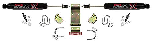Skyjacker 8203 Dual Steering Stabilizer Kit (Includes Steering Dampers Mounting Brackets for Jeep Wrangler JK - Black)