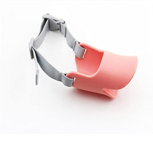 para De Perros Juguetes Novedad Silicona Lindo Diseño De Boca De Pato Máscara De Perro Bozal Bark Bite Stop Máscara Anti-Mordida para Perro Mascota L Rosa