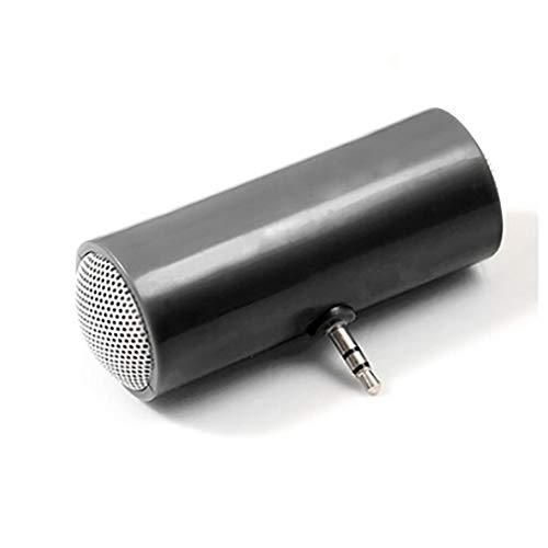 Delleu Altavoz portátil de 3,5 mm para Reproductor de MP3 Amplificador estéreo Mini Altavoz teléfono móvil Altavoz