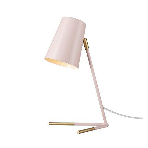 Novogratz x Globe Electric Novogratz x Globe Dobby 16' Lámpara de escritorio, color rosa, patas doradas mate, cable transparente, interruptor de encendido/apagado en línea 67338, rosa