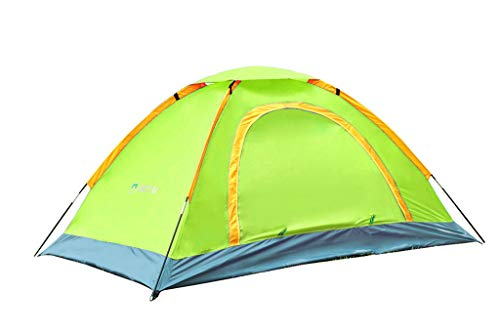 BZLine Portable Outdoor Hiking Camping Tents, Auto Single Windproof Rain Backpacking Lodge Mosquito Tent Lightweight Camping Tente Beach Tabernacle (Green)