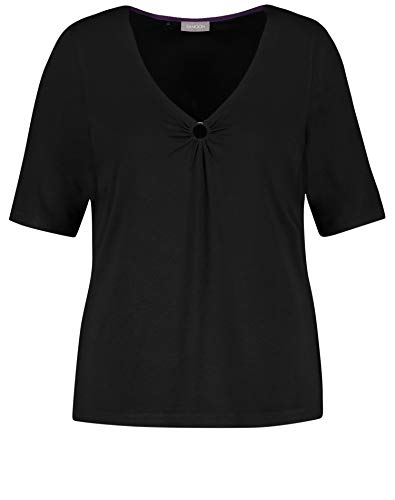 Samoon T-Shirt 1/2 Arm, Black, 52 Donna
