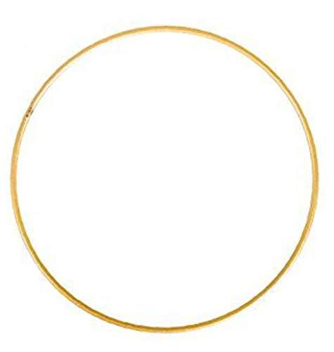 TOPofly Metal Floral Hoop, Gold Hoop Rings Macrame Rings for Christmas Craft and Dream Catcher DIY Christmas Wreath