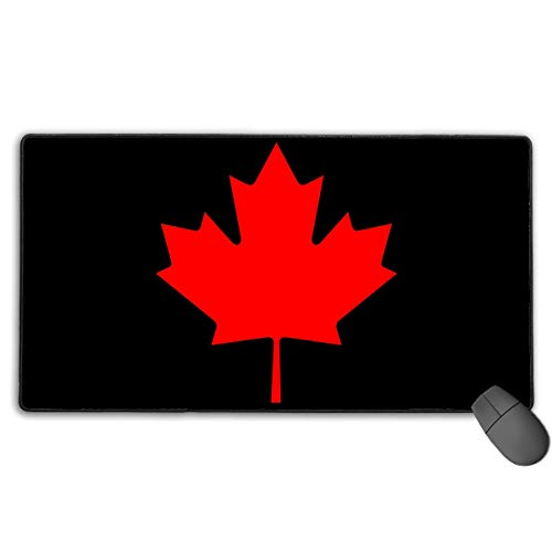 Liulishuan Extended Large Gaming Mouse Pad Mat Canada Maple Leaf Custom Mouse Pads With Non Slip Rubber Base For Typist Office Durable Stitched