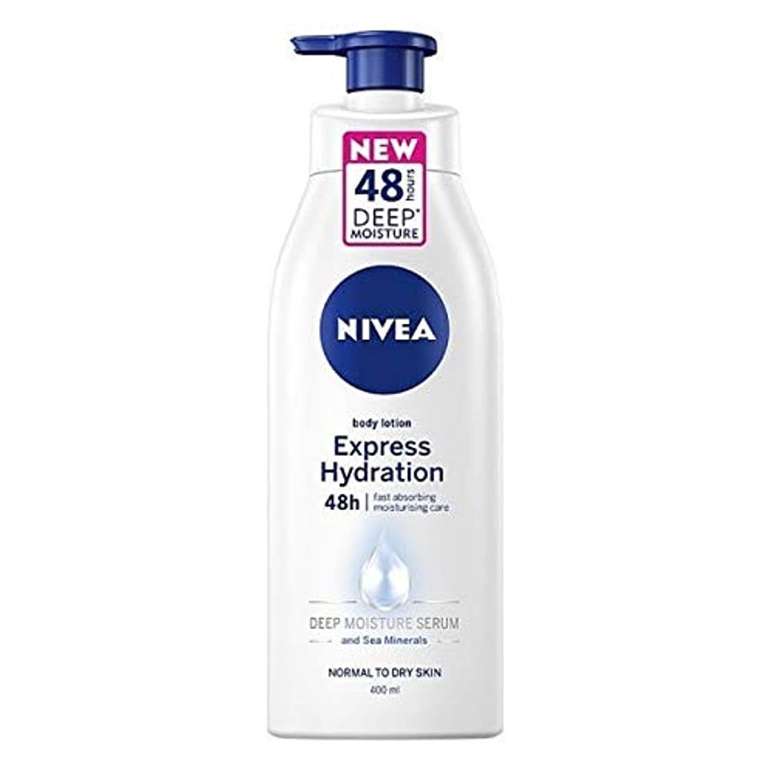 突破口エージェント保持する[Nivea ] 高速の急行水和ボディローション400ミリリットルを吸収ニベア - NIVEA Fast Absorbing Express Hydration Body Lotion 400ml [並行輸入品]