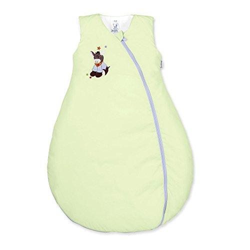 Sterntaler Schlafsack für Kleinkinder, Ganzjährig, Wärmeregulierung, Reißverschluss, Größe: 110, Emmi, Grün