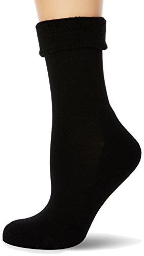 Nur Die Damen Pflege & Komfort Relax Schlag Socken, Schwarz (Schwarz 940), 38 (35-38)