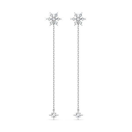 Swarovski Orecchini Magic Chain, bianco, placcato rodio