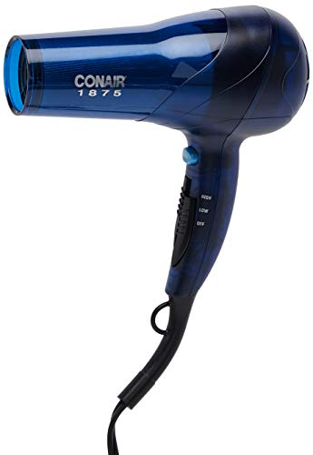 Conair 1875 Watt Translucent Turbo Hair Dryer; Blue