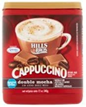 Hills Bros Sugar Free Double Mocha Cappuccino Beverage Mix, 12 oz - Pack of 6