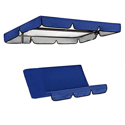 Tettuccio di ricambio Tettuccio coprisedile Tettuccio universale per altalena da giardino, altalena da giardino a 3 posti con tetto rimovibile e copertura del sedile Tettuccio parasole regolabile
