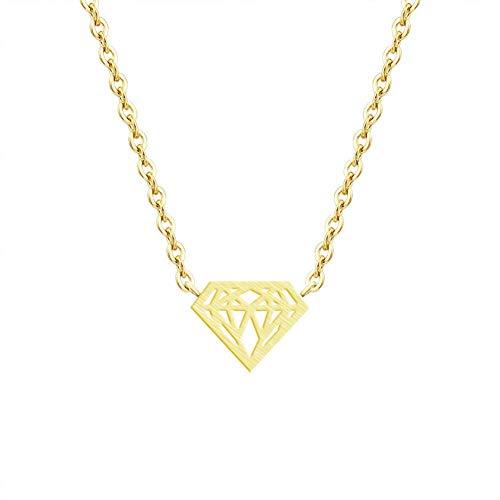 Cremación Memorial Colgante, collar de la moda de Origami Triángulo de los colgantes for las mujeres Geometría joyas de oro de acero inoxidable color plata de la cadena Statment Gargantilla Cremation