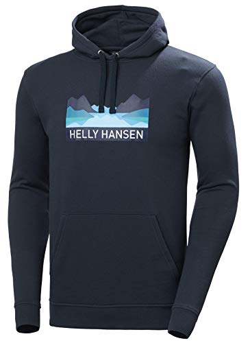 Helly Hansen Nord Graphic Pull Over Hoodie Suéter con Capucha, Hombre, Navy, L