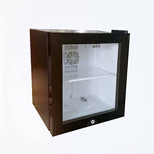 LED-Mini Refrigerador Negro | Refrigerador de Cerveza, Vino y Bebidas de 30L | Luz LED + Cerradura | El Ahorro de energía