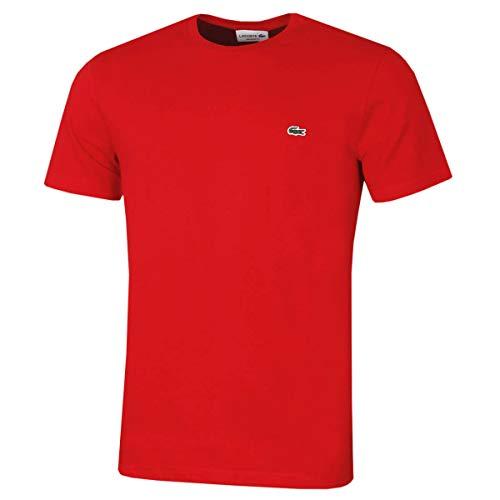 Lacoste Crew Neck Short Sleeve, Rosso (Red), XS Uomo