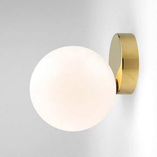 Goeco Applique da parete, Plafoniera Creative Palla di vetro Lampada da parete 15cm per Camera da letto, Soggiorno
