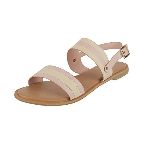 Metro Women Beige Fashion Sandals-5 UK (38 EU) (33-99949)