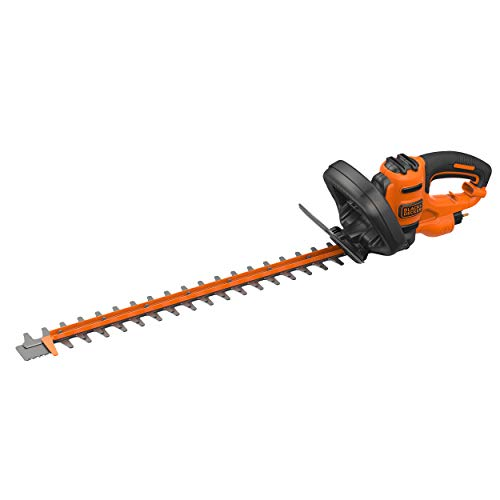 Black + Decker BEHTS451GB Double Blade Electric Hedge Trimmer, 550 W, Orange