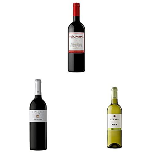 Viña Pomal Crianza - Vino tinto Rioja + Legaris Roble - Vino tinto Ribera del Duero + Ederra Verdejo – Vino blanco DO Rueda – 3x75 cl