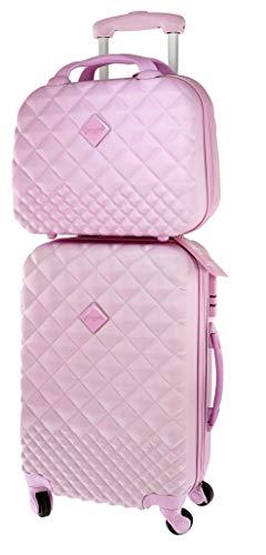 CAMOMILLA MILANO Set Valigeria, Set di Valigie, Trolley da Viaggio (40 lt.) + Vanity Case (15 lt.), Materiale Rigido, Ruote Pivotanti, Chiusura Zip con combinazione, Colore Rosa