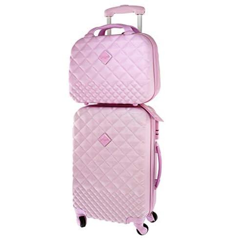 Camomilla Milano set valigia e vanity case pink